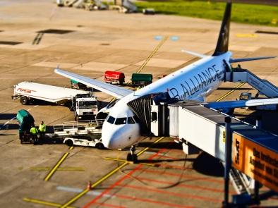 Flugzeugabfertigung